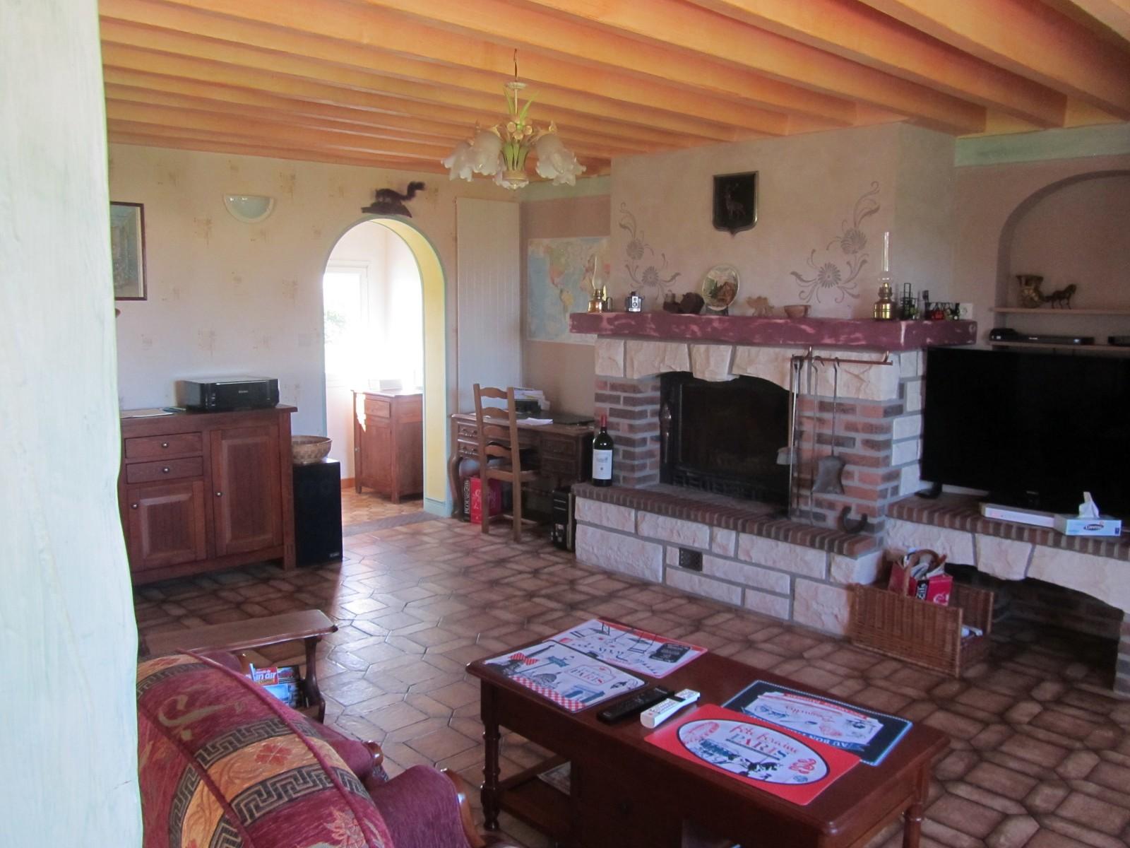 séjour/salon 45 m² cheminée